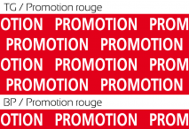 Promotion rouge